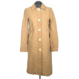 Marc Jacobs Tan Cotton Peacoat Long Jacket